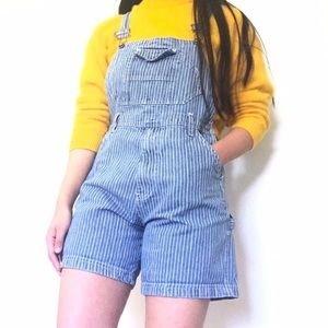 Vintage Route 66 Overall Shorts